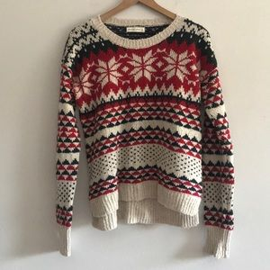 NWOT Abercrombie & Fitch Knit Sweater Size L